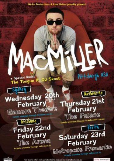 Mac Miller Debut Australian Tour 2013 | Niche Productions