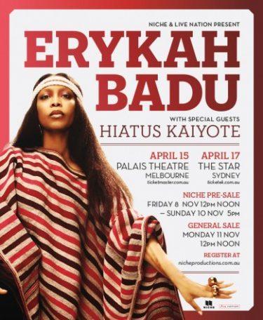 Erykah Badu Australian Headline Shows 2014 | Niche Productions