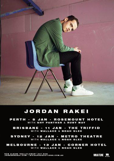Jordan Rakei Australia Tour 2018 | Niche Productions