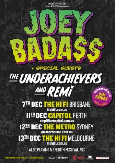 Joey Badass & The Underachievers w/ Remi Debut Australian Tour 2014 | Niche Productions