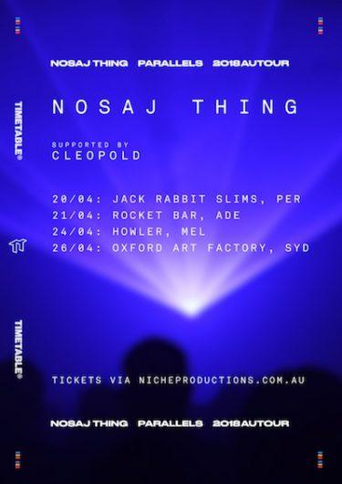 Nosaj Thing Australian Tour 2018 | Niche Productions