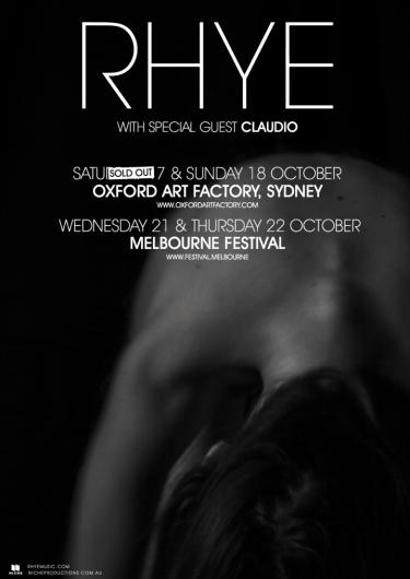 Rhye Debut Australian Shows 2015 | Niche Productions