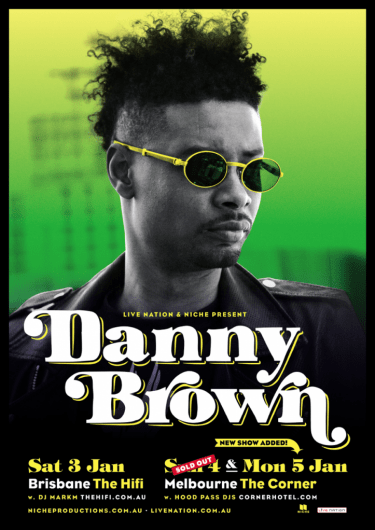 Danny Brown Headline Shows 2015 | Niche Productions