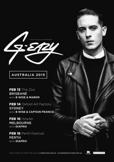 G-Easzy: Debut Australian Tour 2015 | Niche Productions