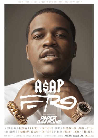 A$AP Ferg Headline Shows AUS/NZ 2015 | Niche Productions