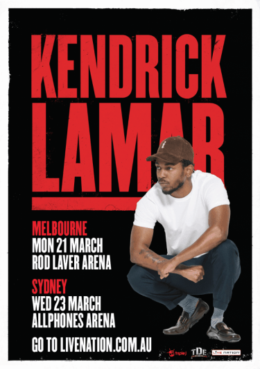 Kendrick Lamar Australian Headline Shows 2016   Niche Productions
