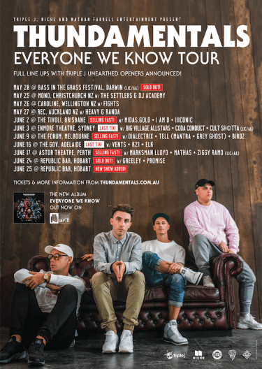 Thundamentals 'Everyone We Know' AUS/NZ Tour 2017 | Niche Productions