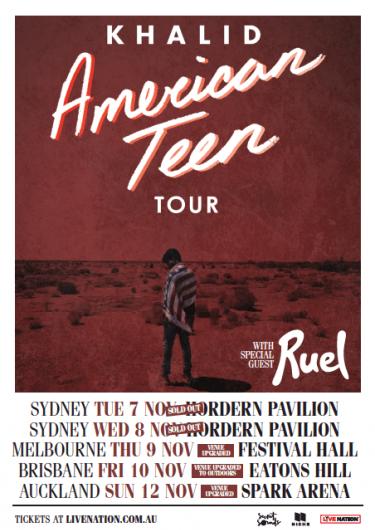 Khalid American Teen Australia Tour 2017 | Niche Productions