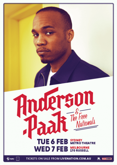 Anderson .Paak Intimate Headline Shows 2018 | Niche Productions