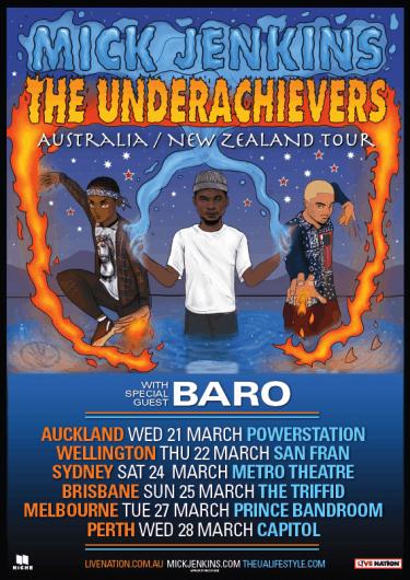 Mick Jenkins & The Underachievers AUS/NZ Tour 2018 | Niche Productions