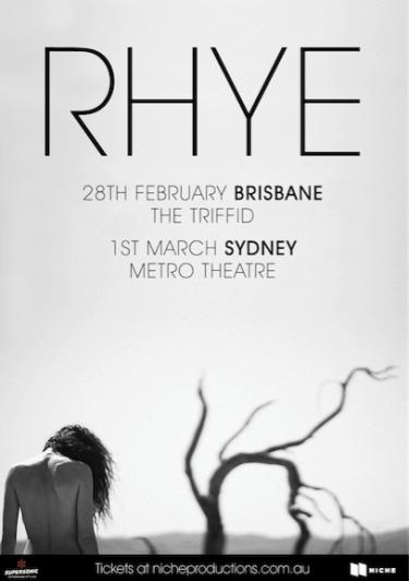 RHYE Exclusive Headline Show 2019   Niche Productions